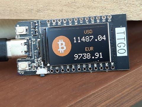 Get BITCOIN LIVE PRICE TTGO ESP32 - Cryptocurrency Tutorial