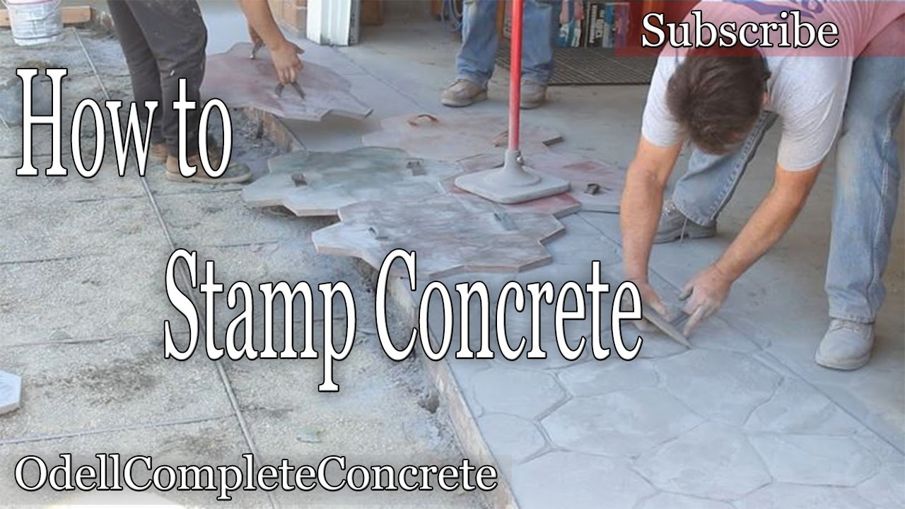 How To Stamp Concrete Stone Pattern Youtube