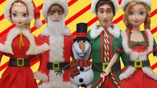 "Play Doh ""FROZEN"" Elsa,Anna,Kristoff,Hans, Olaf  Santa Claus & Elf Inspired Costumes"