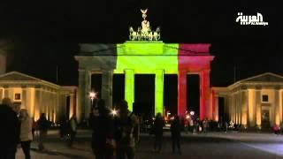 معالم أوروبية تتلون بألوان علم بلجيكا