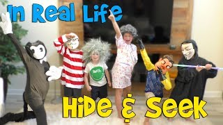 Ultimate In Real Life Hide & Seek with Bendy Granny Hacker and Hello Neighbor!!