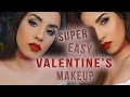 SUPER Quick & Easy Classic Matte Valentines Day EYE Makeup || Claribella