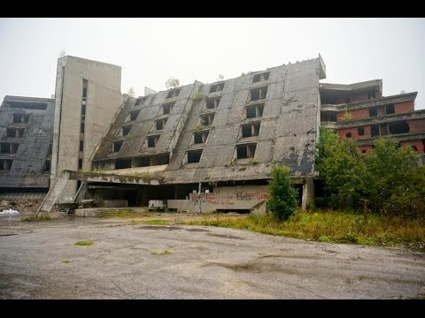 Exploring Haunted Abandoned War Hotel in Bosnia!! (BULLETS FOUND)