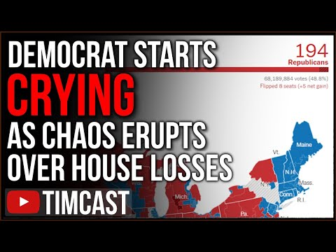 Democrat BREAKS DOWN Crying After Losing House Seat, Dems Erupt Into Chaos Over Massive House Defeat