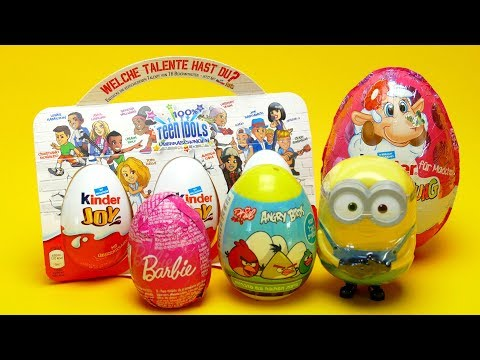 Thumbnail: Super Big Surprise Egg Collection Barbie Minion and Kinder Joy Surprise Egg