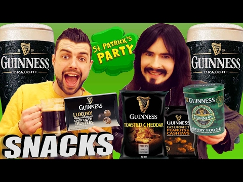 Irish People Try Guinness Beer Snacks! - 'St. Patricks Day 2017'