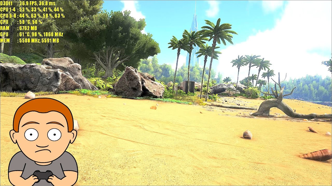 Ark Survival Evolved GTX 1080 TI Epic Settings 1440p Frame Rate Performance  Test