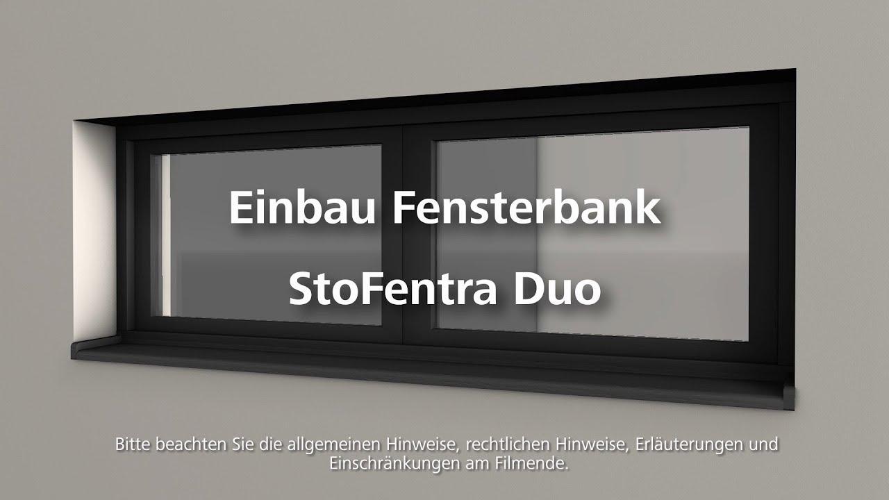Fensterbank StoFentra Duo einbauen - Wärmedämmung- / WDVS ...