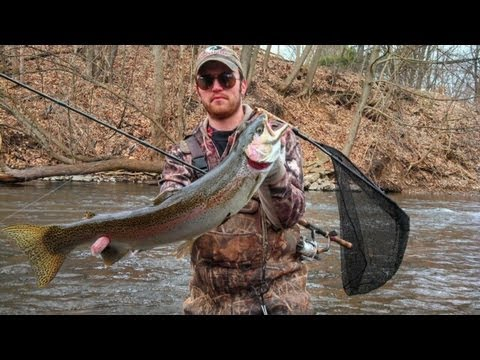2013 michigan steelhead fishing rogue river youtube for Rogue river fishing