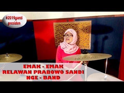 #GOKIL !!!!                         EMAK EMAK RELAWAN PRABOWO SANDI NGEBAND ( Official Music Video )
