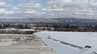 Takeoff from San Jose CA (SJC) Runway 12 & cruising towards Los Angeles 2009-10-19