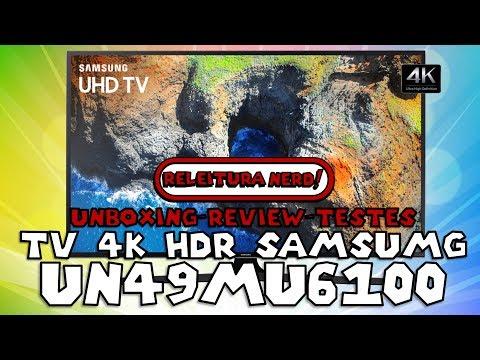 TV 4K HDR Samsung UN49MU6100 - Análise completa, unboxing e testes com jogos, filmes e PC.