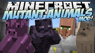 Minecraft | MUTANT ANIMALS MOD! (Zombie Cows, Slime Pigs & Mutant Armies!) | Mod Showcase