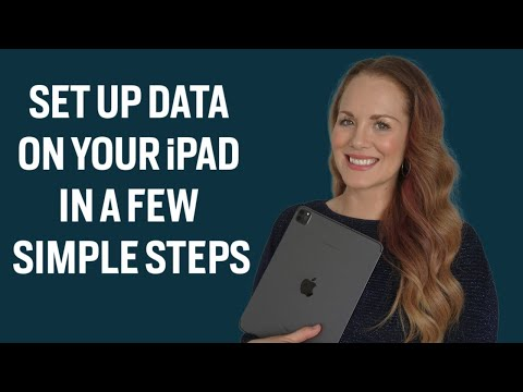 How to Get Data on your iPad | Simple Tutorial
