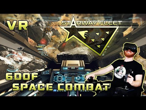 Starway Fleet VR HOTAS gameplay - 6dof space combat with large fleet battles