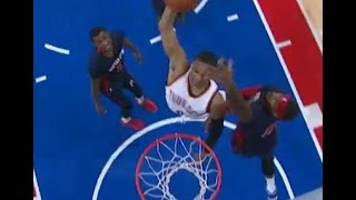 Russell Westbrook dunk: Thunder at Pistons