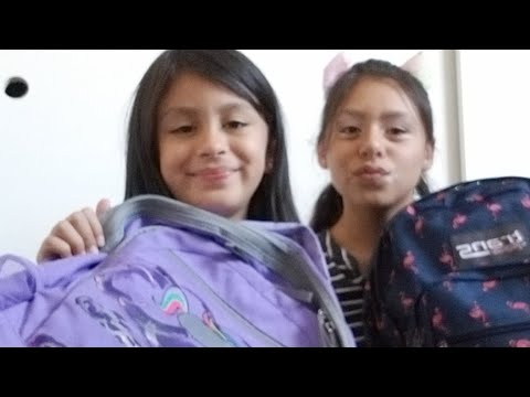 SisterSagas What's in My Backpack High school Vs 3rd Grade