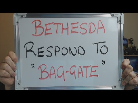 """BETHESDA Respond to the """"Bag-Gate"""" Incident and it's PATHETIC !!"""