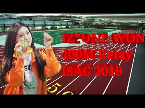 IZONE WON 400M RELAY RACE at IDOL STAR ATHLETICS CHAMPIONSHIPS (ISAC) 2019 | Warm Up + Actual Race