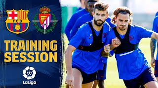 Back to work to prepare LaLiga match against Valladolid