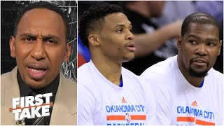 Stephen A. doesn't believe Kevin Durant forgot to put Russell Westbrook on greatest teammates list