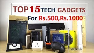 Top 15 Tech Under Rs 500 and Rs 1000 I Personally Use | Tech Gadgets and Accessories