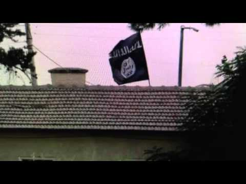 Islamic State flag flies over Syria's Custom Office in Turkey Working with ISIS