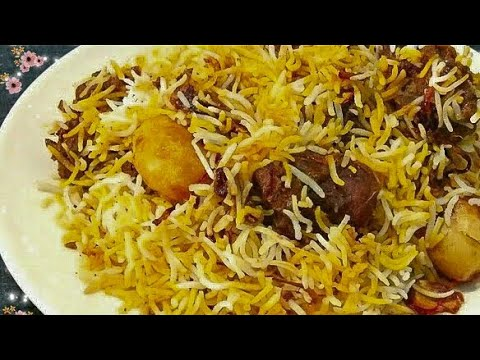 Simple Mutton Biryani Recipe | Goat Biriyani | Biryani Recipe Bengali Style
