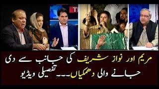 Threats given by Maryam, Nawaz Sharif