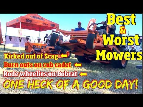 Best and Worst Lawnmowers of 2018 & 2019 -Plus Kicked out of the Scag booth