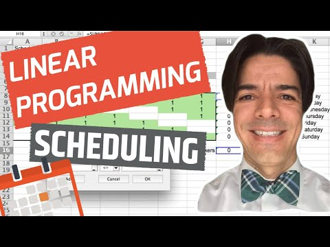 Linear Programming Employee Scheduling with Excel Solver - YouTube