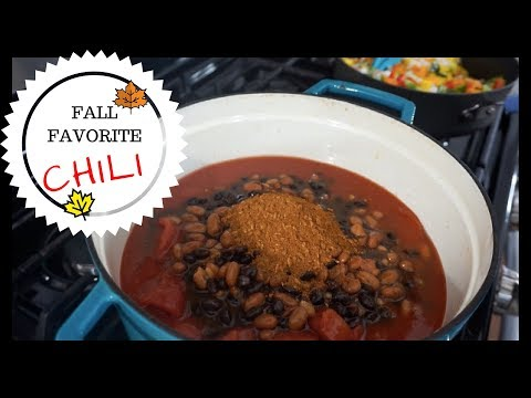EASY FALL MEALS | WARM & SATISFYING DELICIOUS AMAZING VEGGIE CHILI RECIPE