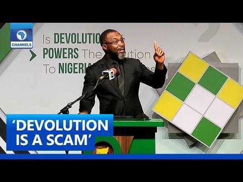No Such Thing As 'Devolution Of Power', It's A Scam - Osita Chidoka   The Platform Pt. 6