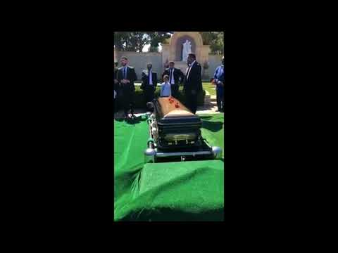 Joe Jackson. Father of Michael/Janet The Jacksons  Private funeral. Part 1