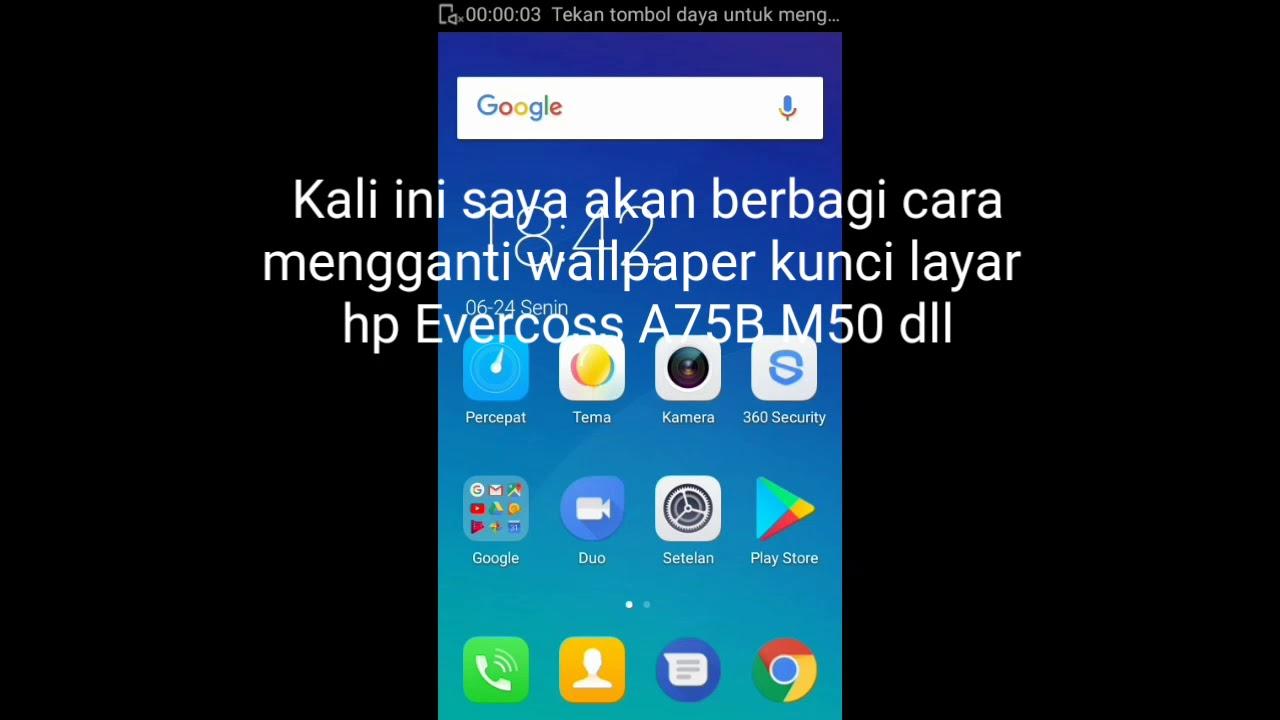 Mengganti Wallpaper Kunci Layar HP Evercoss A75B M50