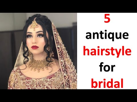 5-antique-hairstyle-for-bridal-||-high-bun-hairstyle-||-side-bun-hairstyle-||-french-bun-hairstyle