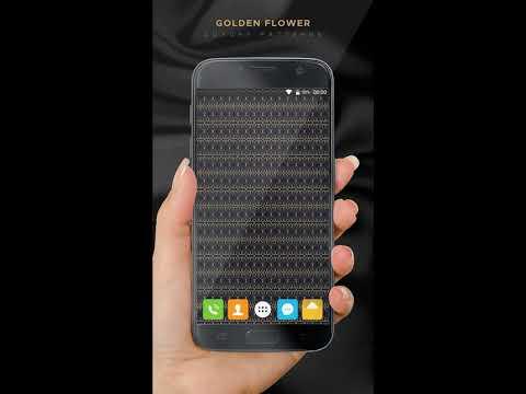 App Fonezo - LUXURY PATTERNS: Golden Flower (Luxury Wallpapers)