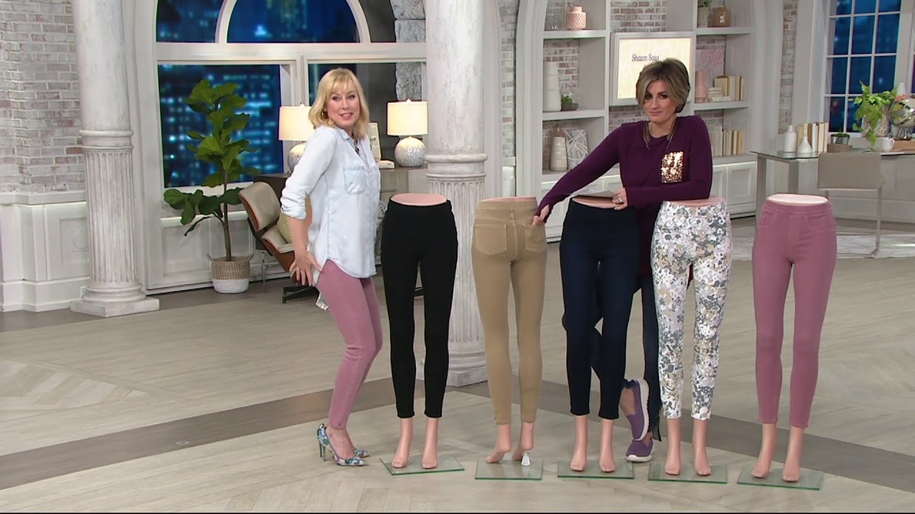 9402a9b06cb Spanx Jean-ish Ankle Length Leggings on QVC - YouTube