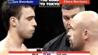 "Jan Overduin vs Chico ""El Toro"" Martinez Dutch title fight -75kg 2006"