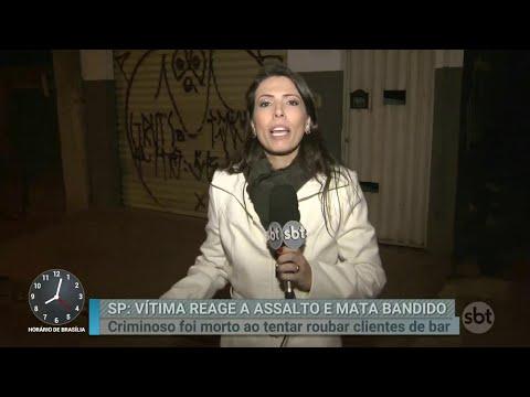 Vítima reage a assalto e mata criminoso na Grande São Paulo | Primeiro Impacto (05/07/18)