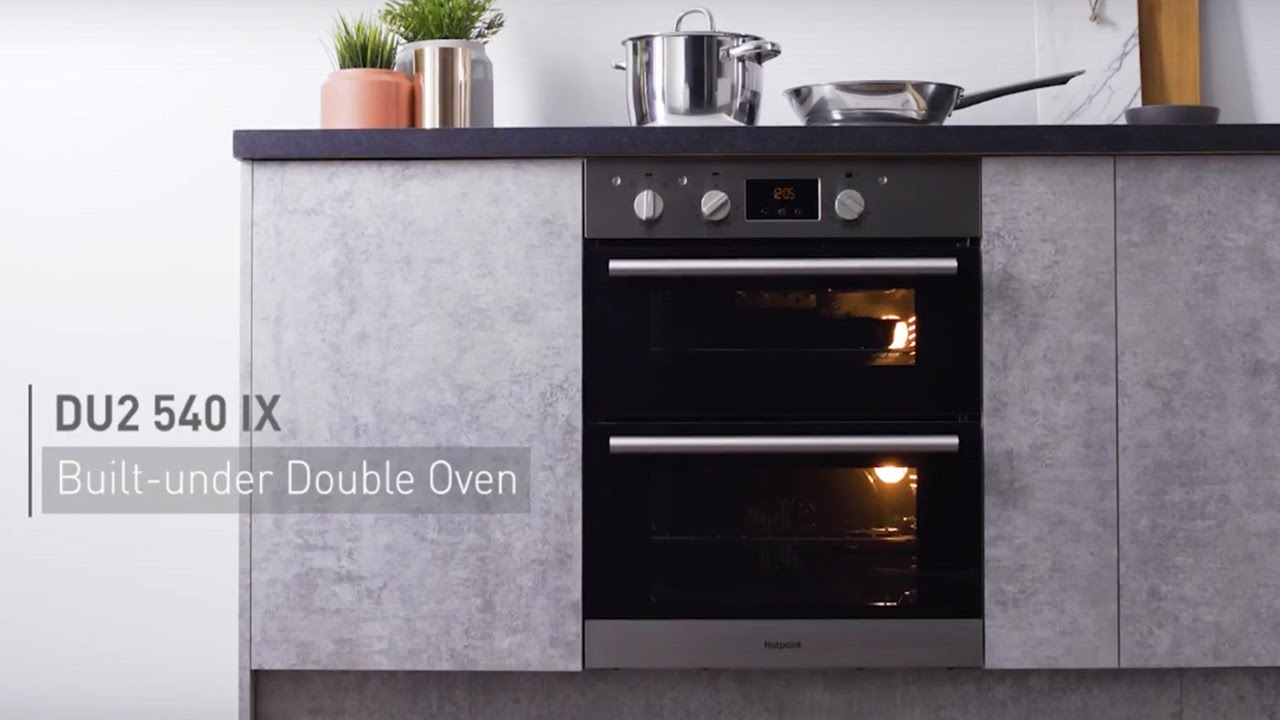 Hotpoint Built In Oven Home Safe Dh53ws Newstyle Builtin Electric Double White Cl 2 Du2540ix Under You