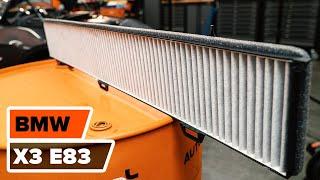 BMW X3 E83 karbantartás - videó útmutatók