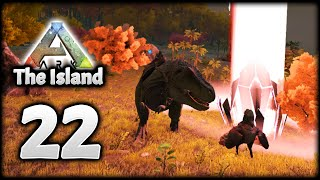 LEVEL 200+ ARK REX VS MANY ALPHAS! RED LOOT BEAM! | ARK Survival Evolved (The Island)