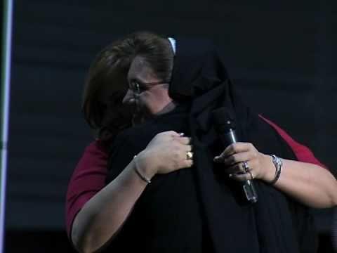 Abby Gets a Nun Hug  - Abby Johnson at Franciscan University