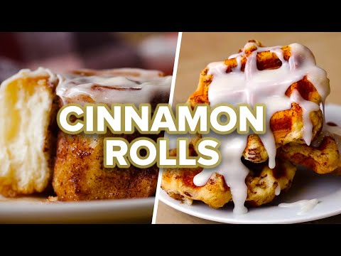 Cinnamon Rolls 4 Ways