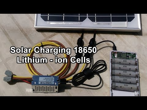 Solar Charging 18650 cells in an 8-slot Power Bank Case