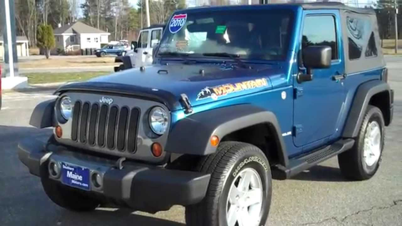 2010 Jeep Wrangler Mountain Edition Southern Maine Motors Saco ME ...