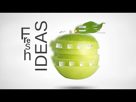 Fresh Ideas Diet template with fruit with vitamins