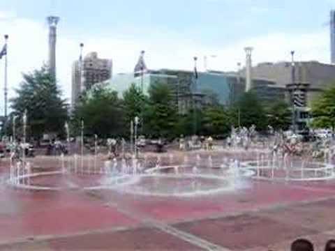 Water fountain show at Centennial Park - Atlanta, GA.