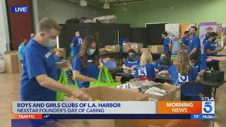 KTLA celebrates 25th anniversary of parent company's founding with volunteer effort
